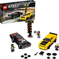 LEGO Speed Champions 2018 Dodge Challenger SRT Demon and 1970 Dodge Charger R/T 75893 Building Kit (478 Piece)