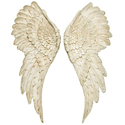 facd86534 WHW Whole House Worlds Grand Tour Angel Wings, Vintage Style, Set of 2,