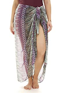 Always For Me Womens Plus Size One Piece Pareo Sarong Skirt