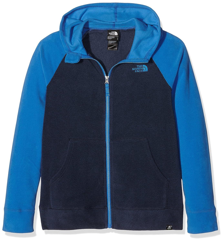 e09d7220e North Face Boys' B Glacier Full Zip Hoodie Recycled Fleece Jacket