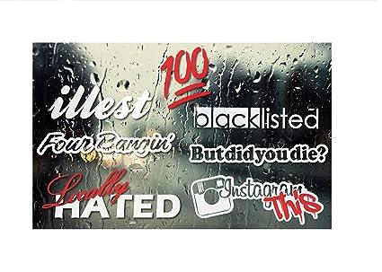 Blacklisted jdm decals muti pack 4 0 sticker bomb set qty 6 waterproof 7
