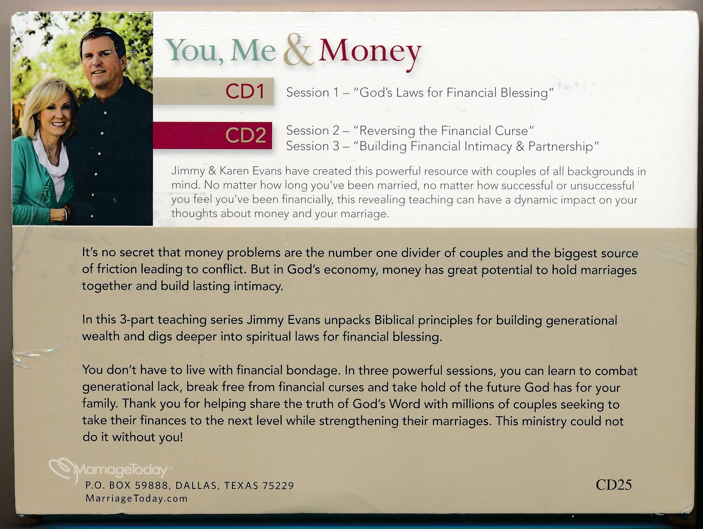 You, Me & Money How to Financially Free Your Marriage : CD 1