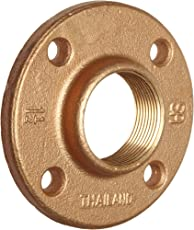 "Brass Pipe Fitting, Class 125, Floor Flange, 3/4"" x 3/4"" NPT Female"