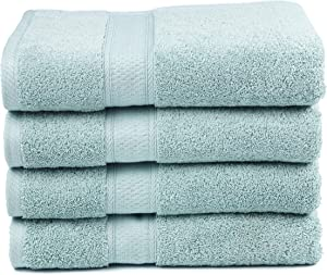 """Ariv Collection Premium Bamboo Cotton Bath Towels - Natural, Ultra Absorbent and Eco-Friendly 30"""" X 52"""" (Duck Egg)"""
