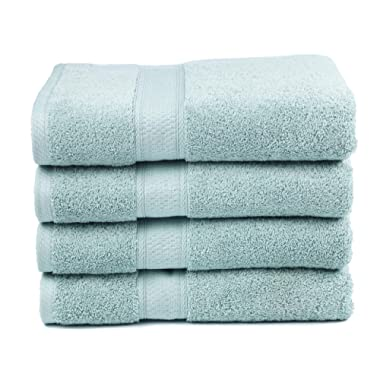 Ariv Collection Premium Bamboo Cotton Bath Towels - Natural, Ultra Absorbent and Eco-Friendly 30  X 52  (Duck Egg)