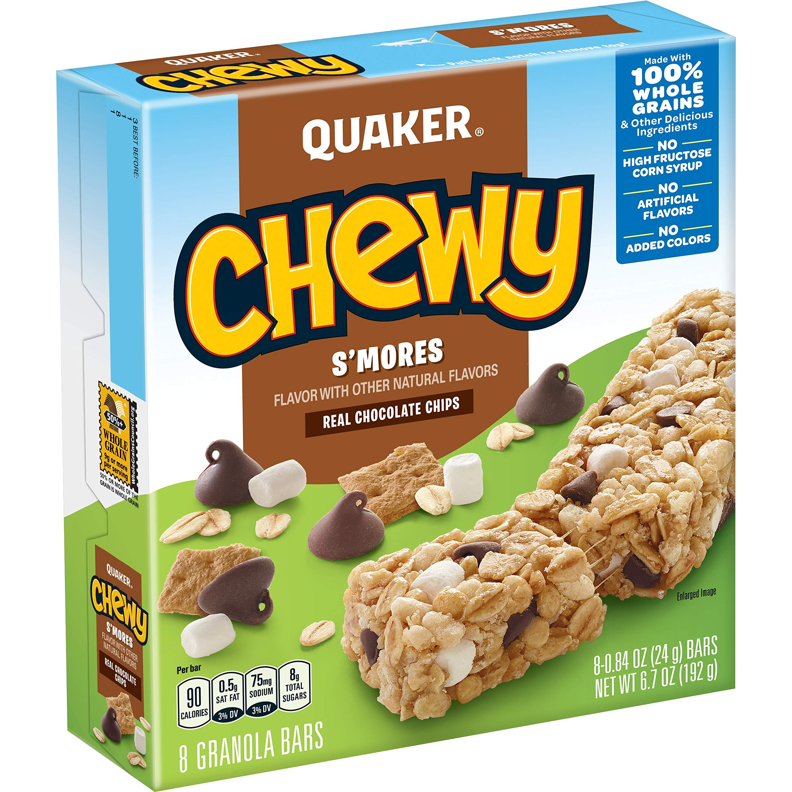 Quaker Chewy Granola Bars, S'mores, (96 Pack)