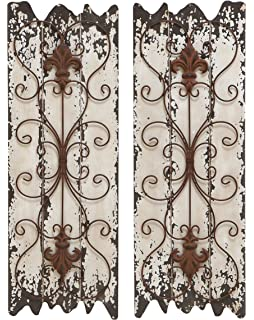 Deco 79 Elegant Wall Sculpture Wood Metal Wall Decor, 32/11 Inch,