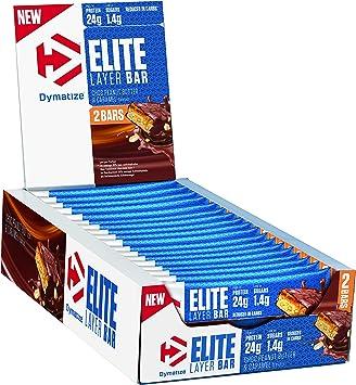 Dymatize Elite Layer Bar Peanut Butter & Caramel 18x(2x30g ...