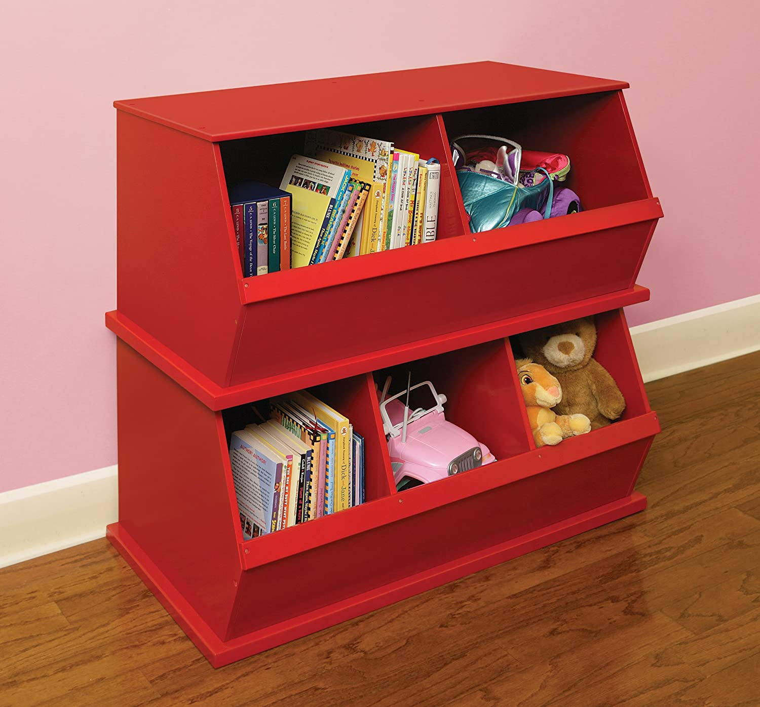 Attractive Amazon.com : Badger Basket Two Bin Storage Cubby, Red : Childrens Storage  Furniture : Baby