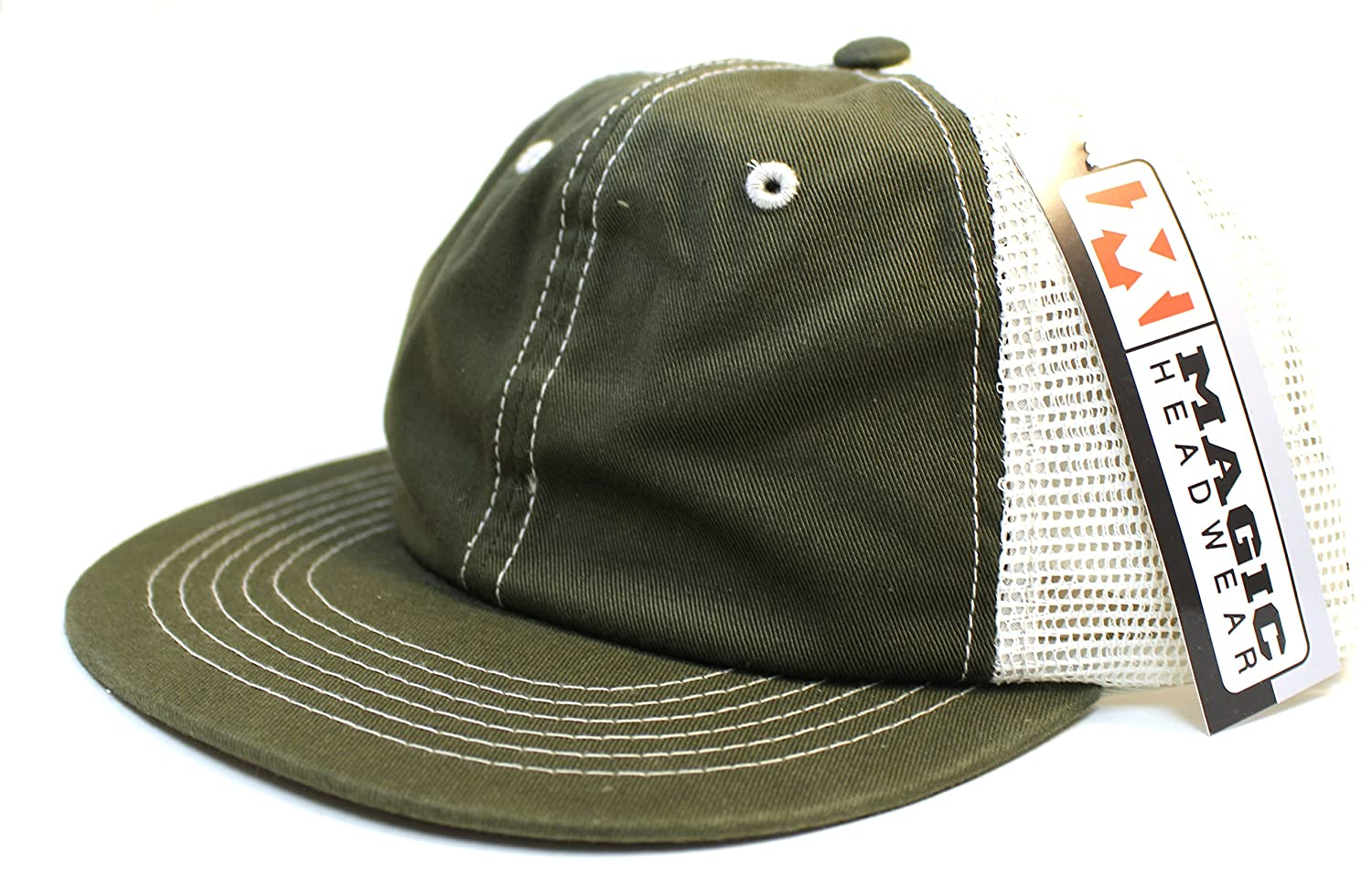 Soft Mesh Back Trucker Baseball Hat Cap Snapback Olive Stone at Amazon  Men s Clothing store  61e61d61938