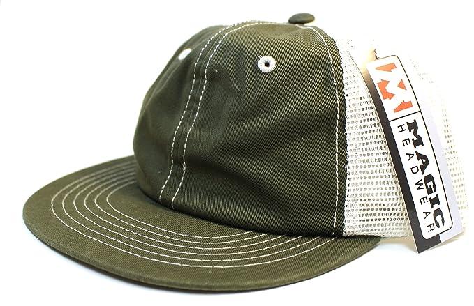 Soft Mesh Back Trucker Baseball Hat Cap Snapback Olive Stone at ... 9d468780016