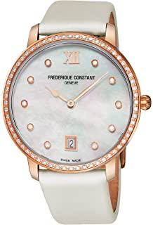 Frederique Constant FC-220MPW4SD34 Slim Line Joaillerie Diamonds White Sapphire Womens Watch