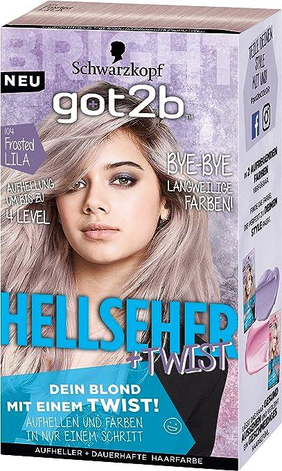 Schwarzkopf Got2b Hellseher Haarfarbe 104 Frosted Lila 3er Pack 3