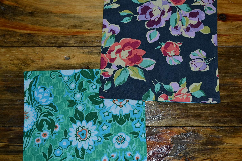 More Designer Flowers Reversible Cloth Napkins//Set of 8