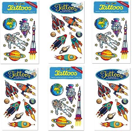 6 Teiliges Tattoo Set Weltraum Vom Mauder Verlag Kinder