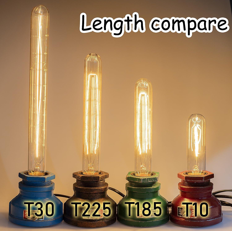 dise/ño de tubo y-nut estilo de Edison filamento T30/bombilla, 2700/K blanco c/álido 300/mm 12/pulgadas, estilo vintage