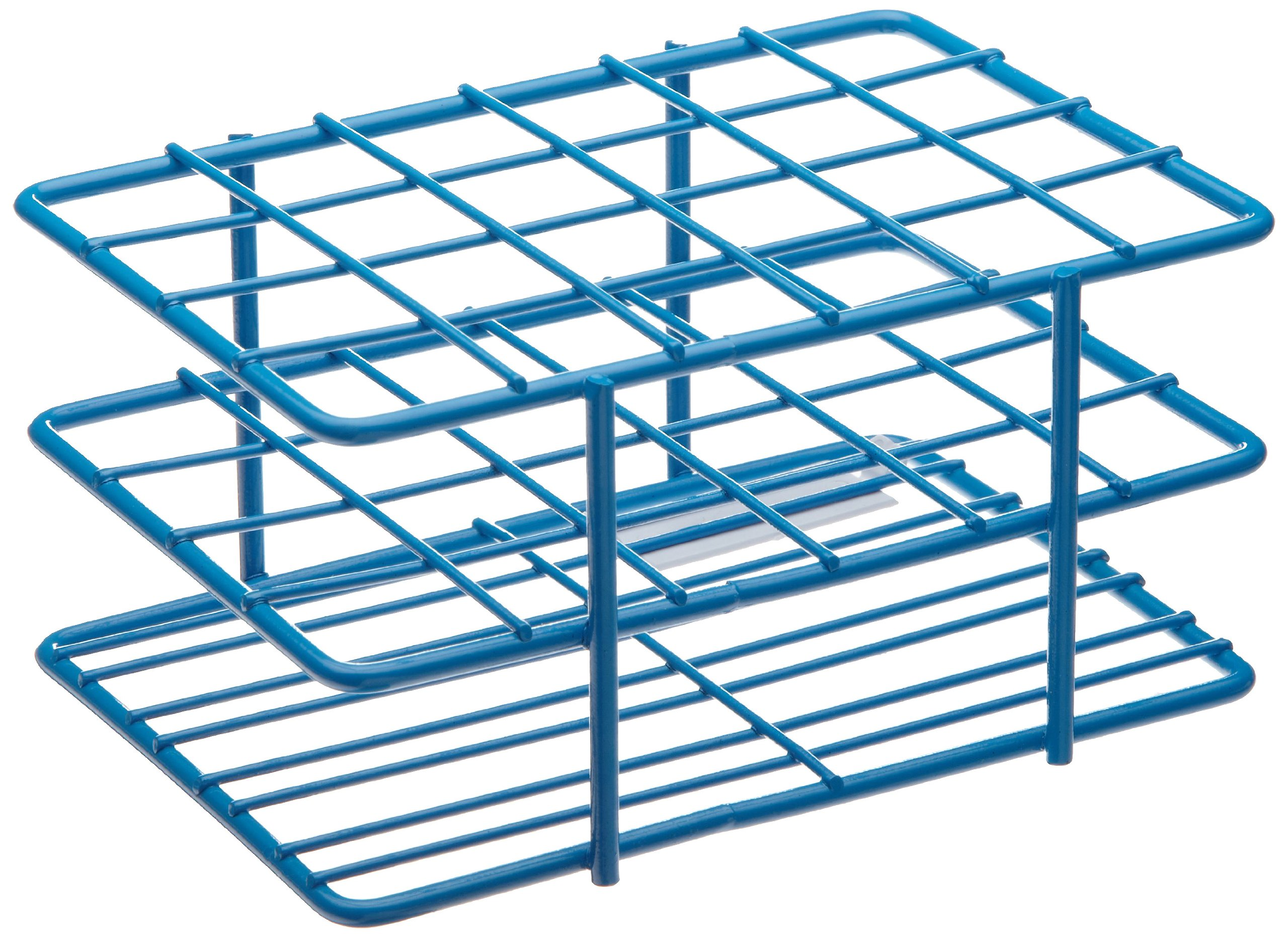 Bel-Art F18788-1601 Poxygrid ''Half-Size'' Test Tube Rack; 15-16mm, 24 Places, 4¹⁵/₁₆ x 3⁵/₈ x 2¹/₂ in., Blue by SP Scienceware
