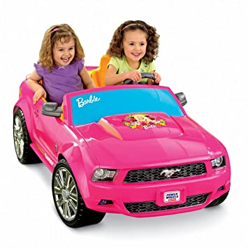 Barbie convertible and doll pack for Motorized barbie convertible car