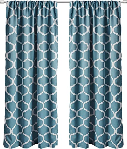 Lush Decor Geo Room Darkening Window Curtain Set of 2