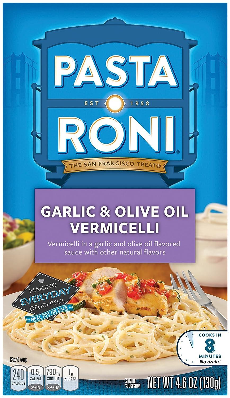 amazon com pasta roni garlic u0026 olive oil vermicelli mix pack of