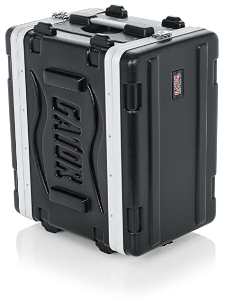 Com Gator Cases Lightweight Molded 6u Rack Case With Heavy Duty Latches Shallow 14 25 Depth Gr 6s Musical Instruments
