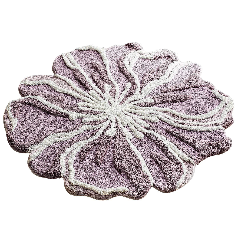 Pier 1 Imports Flower-Shaped 3' Round Lilac Bath Rug