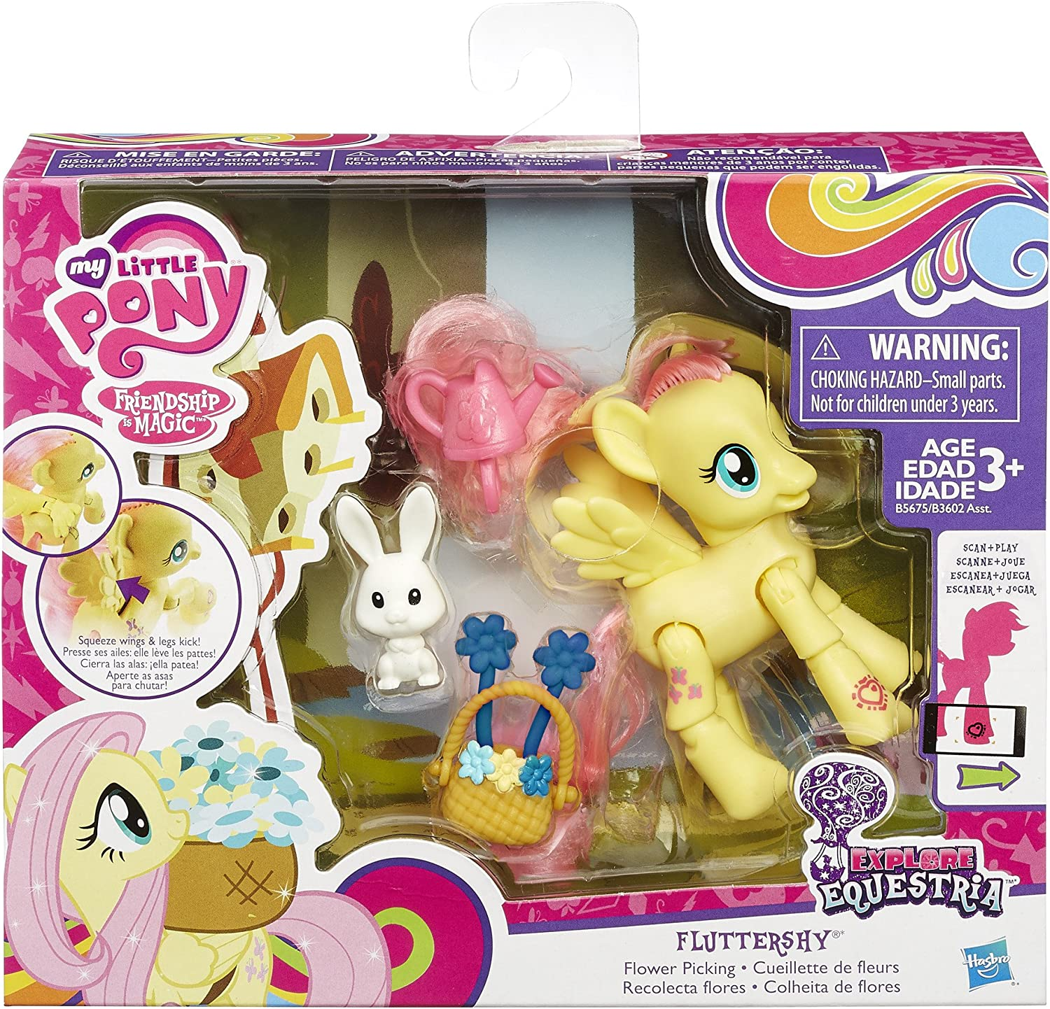 MY LITTLE PONY MLP EXPLORE EQUESTRIA FLUTTERSHY FRIENDSHIP /& MAGIC FIGURE NEW