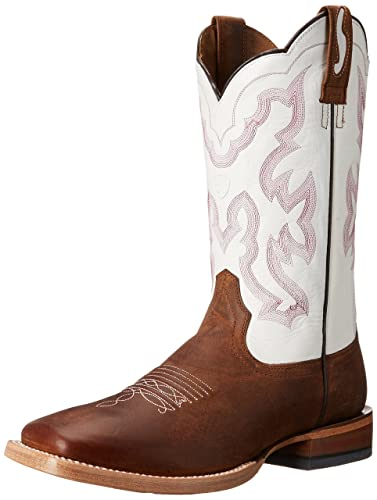 Ariat Mens Brown Boots Nitro Weathered Blanco