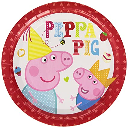 Peppa Pig Red Party Plates  sc 1 st  Amazon.com & Amazon.com: Peppa Pig Red Party Plates: Toys u0026 Games