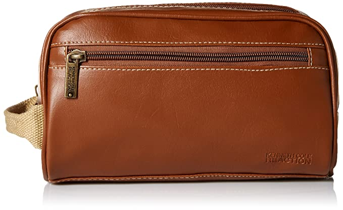 84e5399828dc Amazon.com  Kenneth Cole Men s Zip Travel Kit with Woven Handle ...