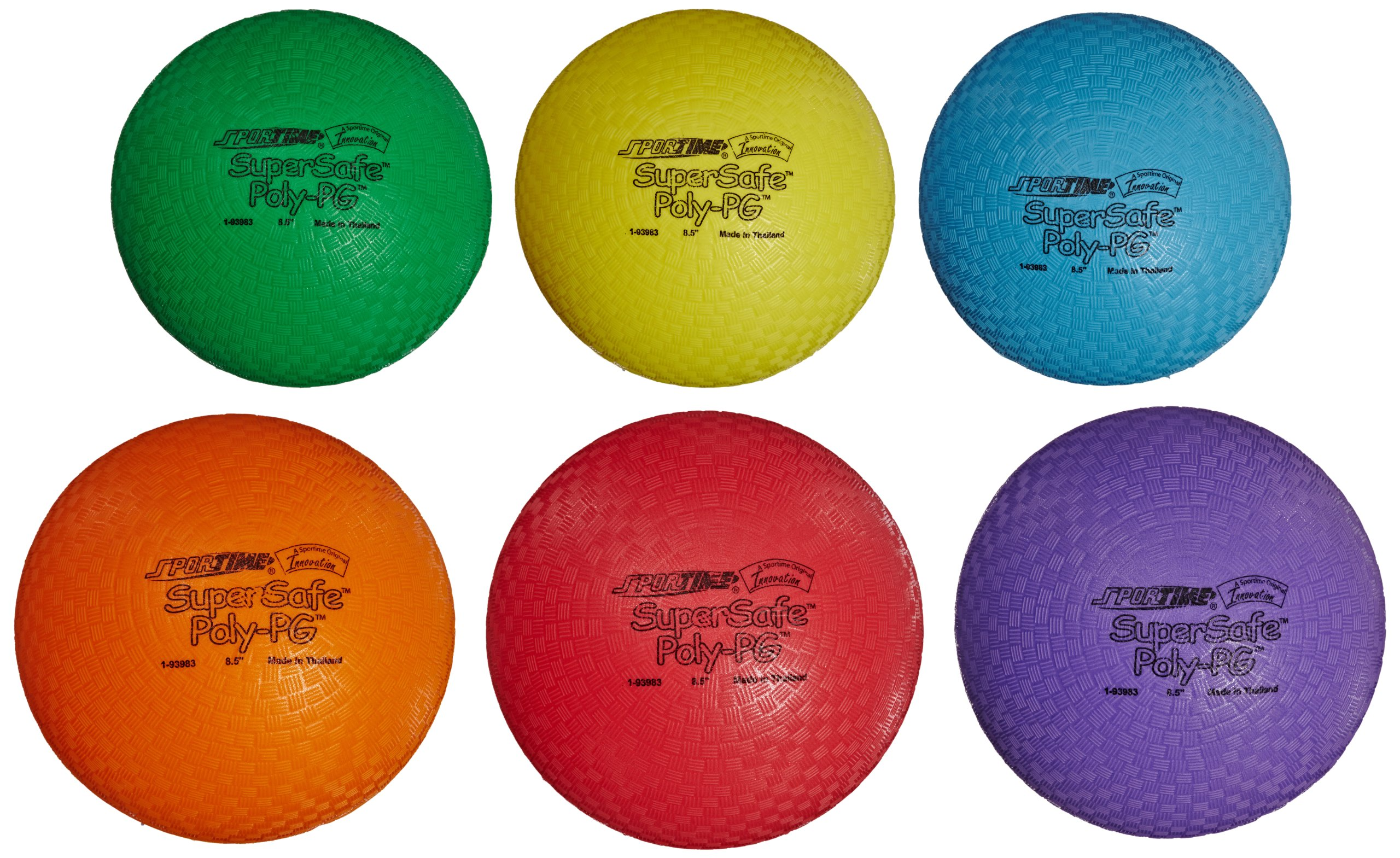 Sportime Supersafe Balls, 8-1/2 Inches, Assorted Colors, Set of 6 by Sportime