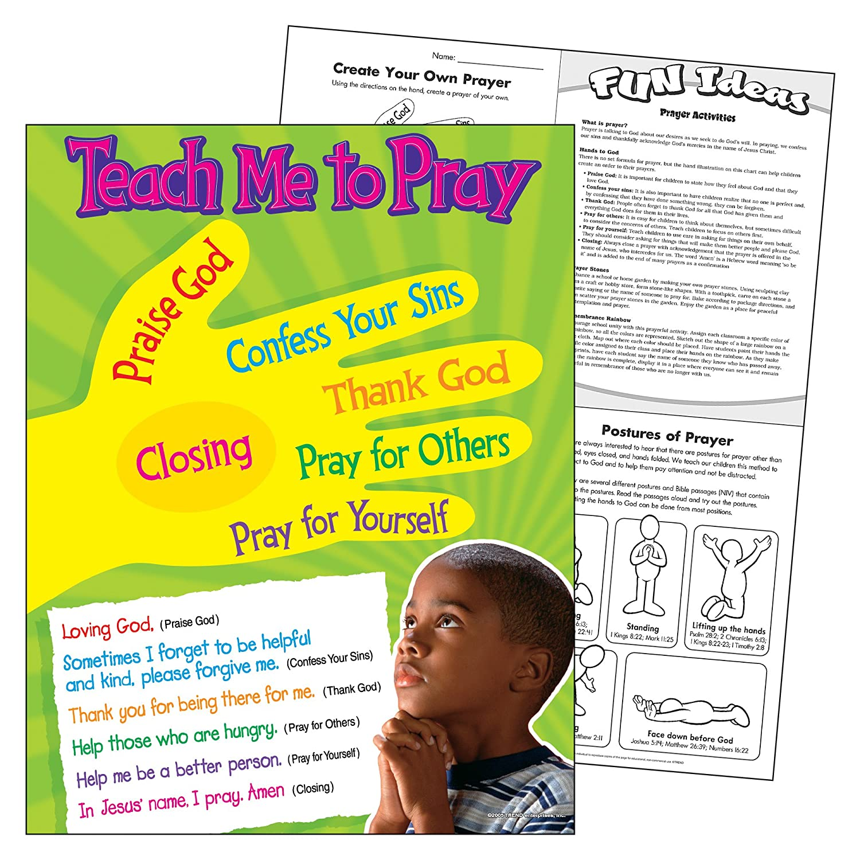 Amazon.com: TREND enterprises, Inc. Teach Me to Pray Learning Chart ...