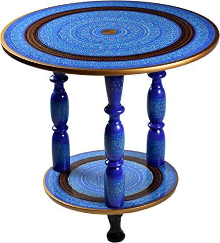 Hand-Crafted Round Side Table