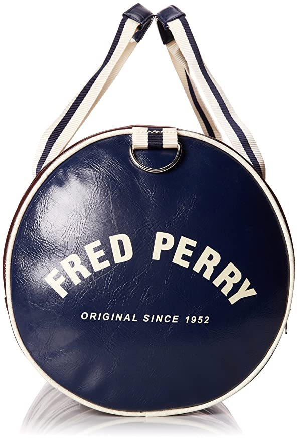 Amazon.com: Fred Perry Mens Classic Barrel Bag, Maroon, One ...
