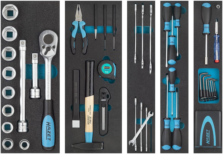 HAZET Metall-Werkzeugkoffer (mobiler Montage-Koffer, mit Profi ...