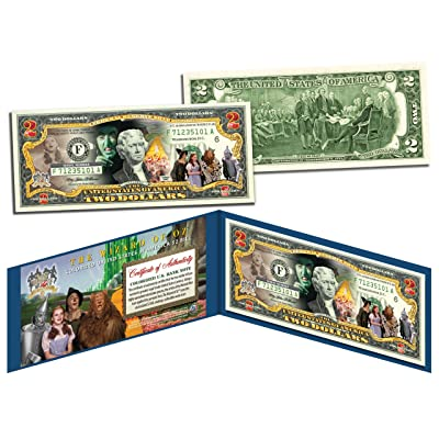 Merrick Mint Wizard of OZ Legal Tender U.S. $2 Bill Officially Licensed w/Folio & Certificate: Toys & Games