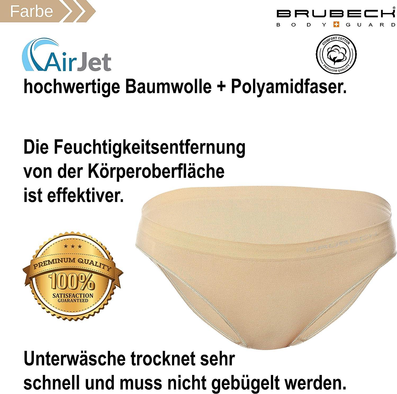 Brubeck 5X BI10020A Comfort Cotton Bikini Slip Donna Air Jet Tessuto Senza Saldatura Cotone//Poliammide Sport qualit/à Premium Intimo