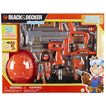 black and decker junior deluxe tool set, construction tools -  ...