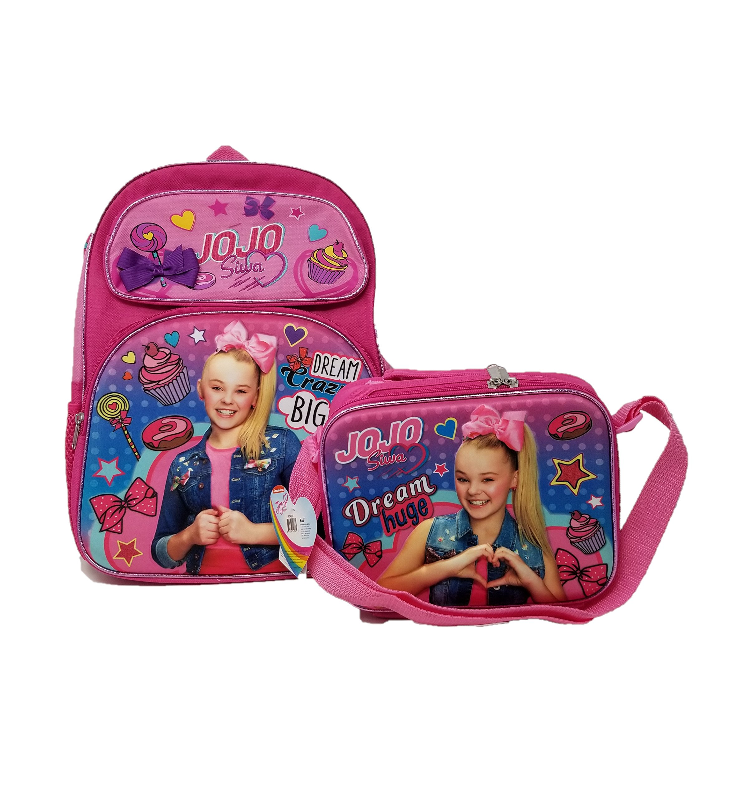 7f3667af5a1b JOJO SIWA in Blue Jeans Zippered Girls' Heavy Duty Backpack