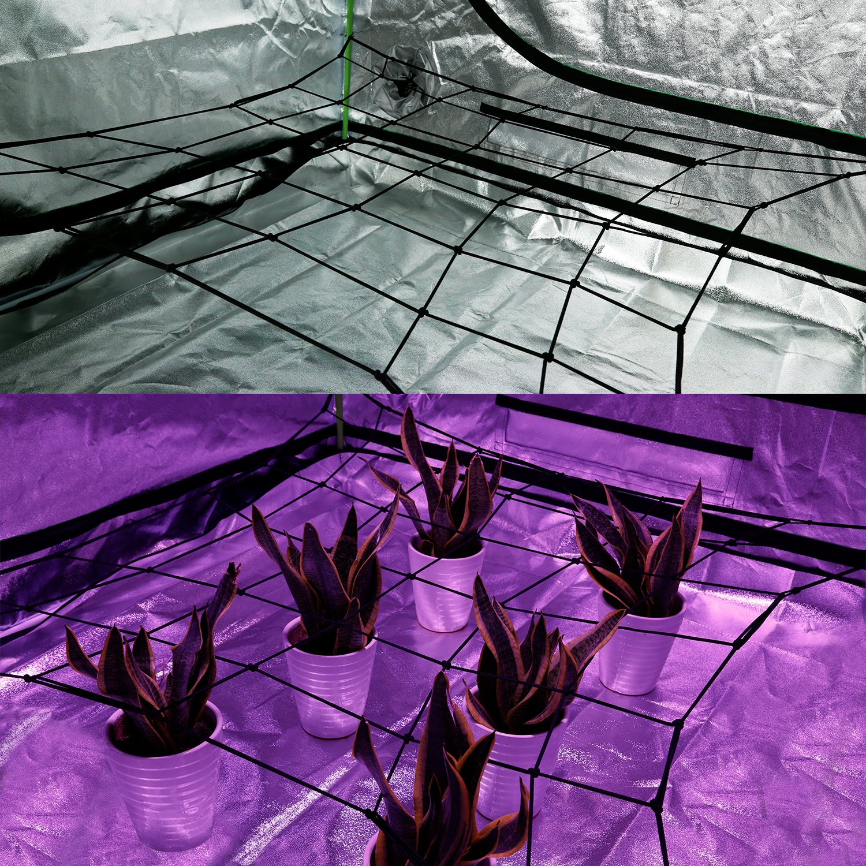 VIVOSUN Elastic Trellis Netting for Grow Tents of Any Dimensions 4'x4' 4'x2' 5'x5' 3x3'