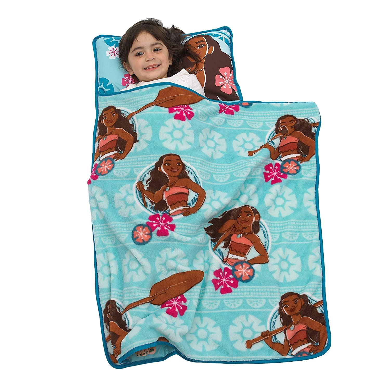 Amazon Com Disney Moana Toddler Nap Mat With Attached Pillow And