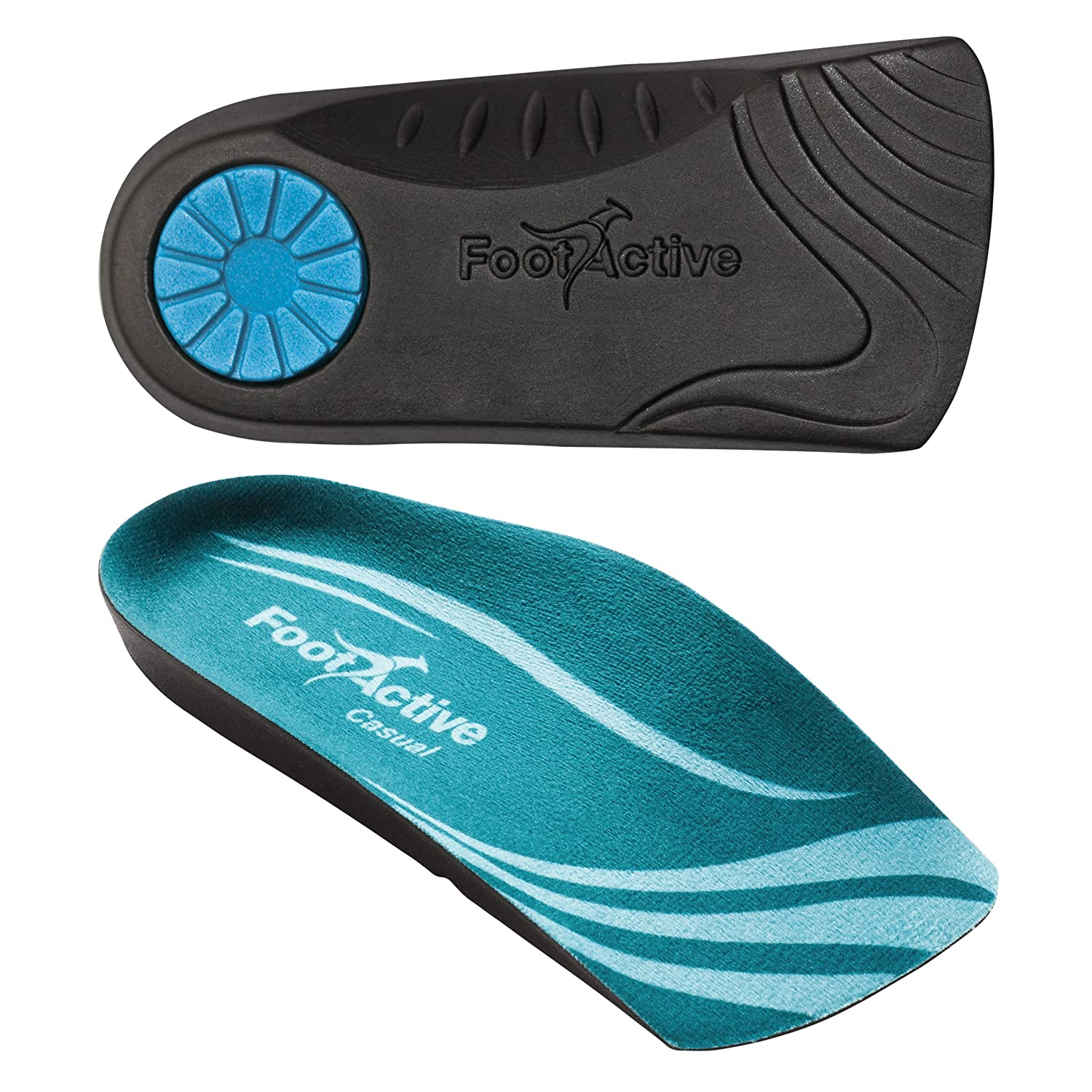 FootActive CASUAL 3//4 Length insole for heel pain plantar fasciitis knee and back pain heelspurs