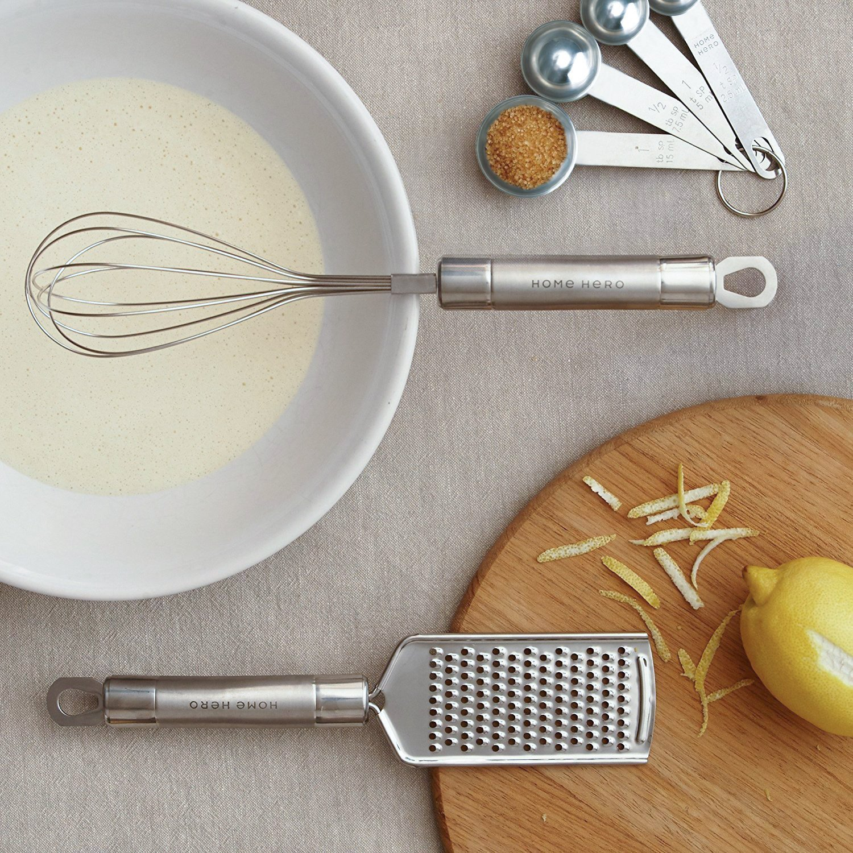 Stainless Steel Kitchen Utensil Set - 29 Cooking Utensils - Nonstick Kitchen Utensils Cookware Set with Spatula - Best Kitchen Gadgets Kitchen Tool Set Gift by HomeHero by HomeHero (Image #8)