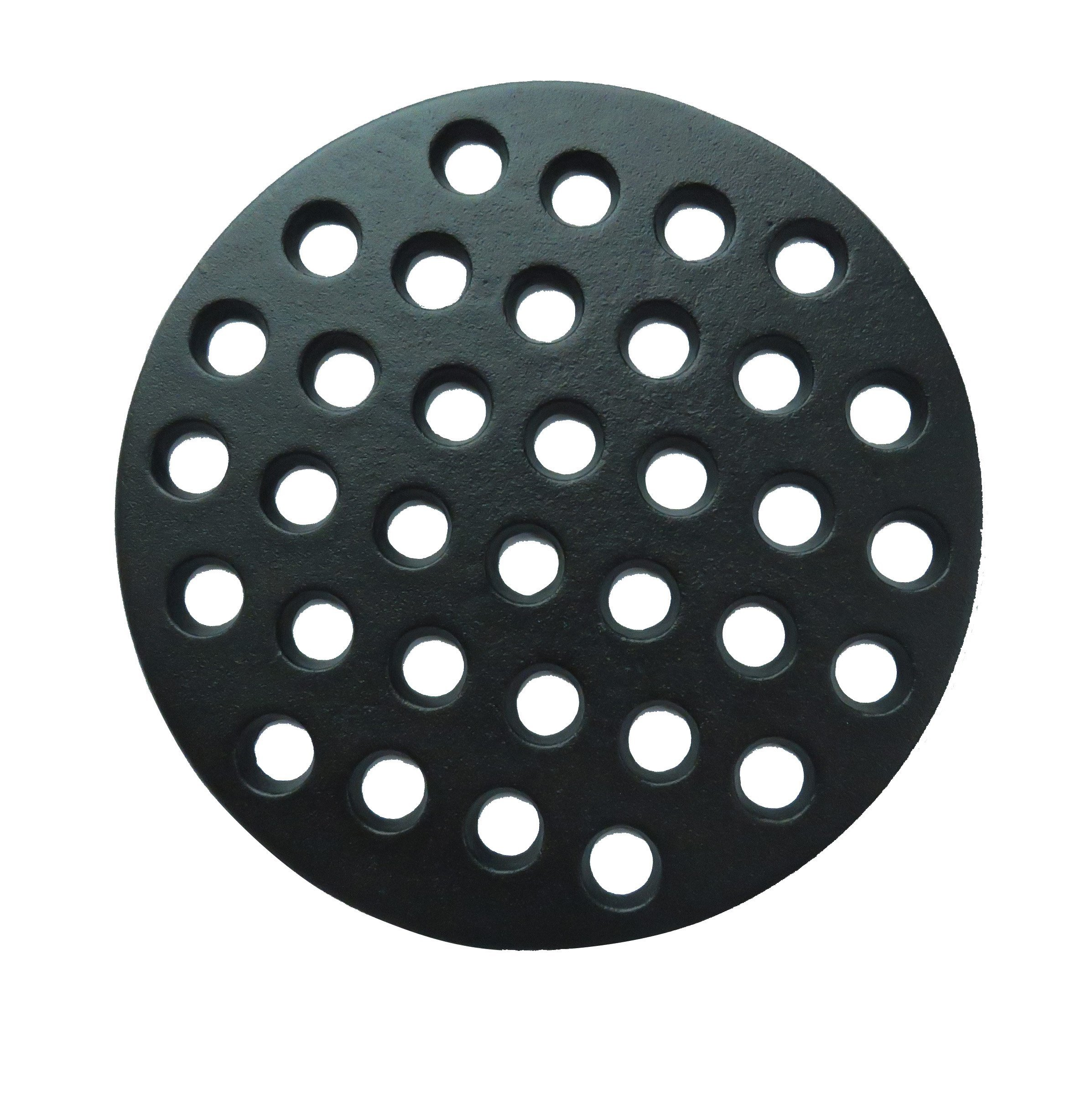 PanHy BBQ High Heat Cast Iron Charcoal Fire Grate Fits for Large Big Green Egg and kamado Joe Grill Parts Charcoal Grate Replacement Accessories-9'' LFGC Round