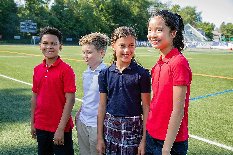 French Toast School Uniform Unisex Short Sleeve Pique Knit Shirt