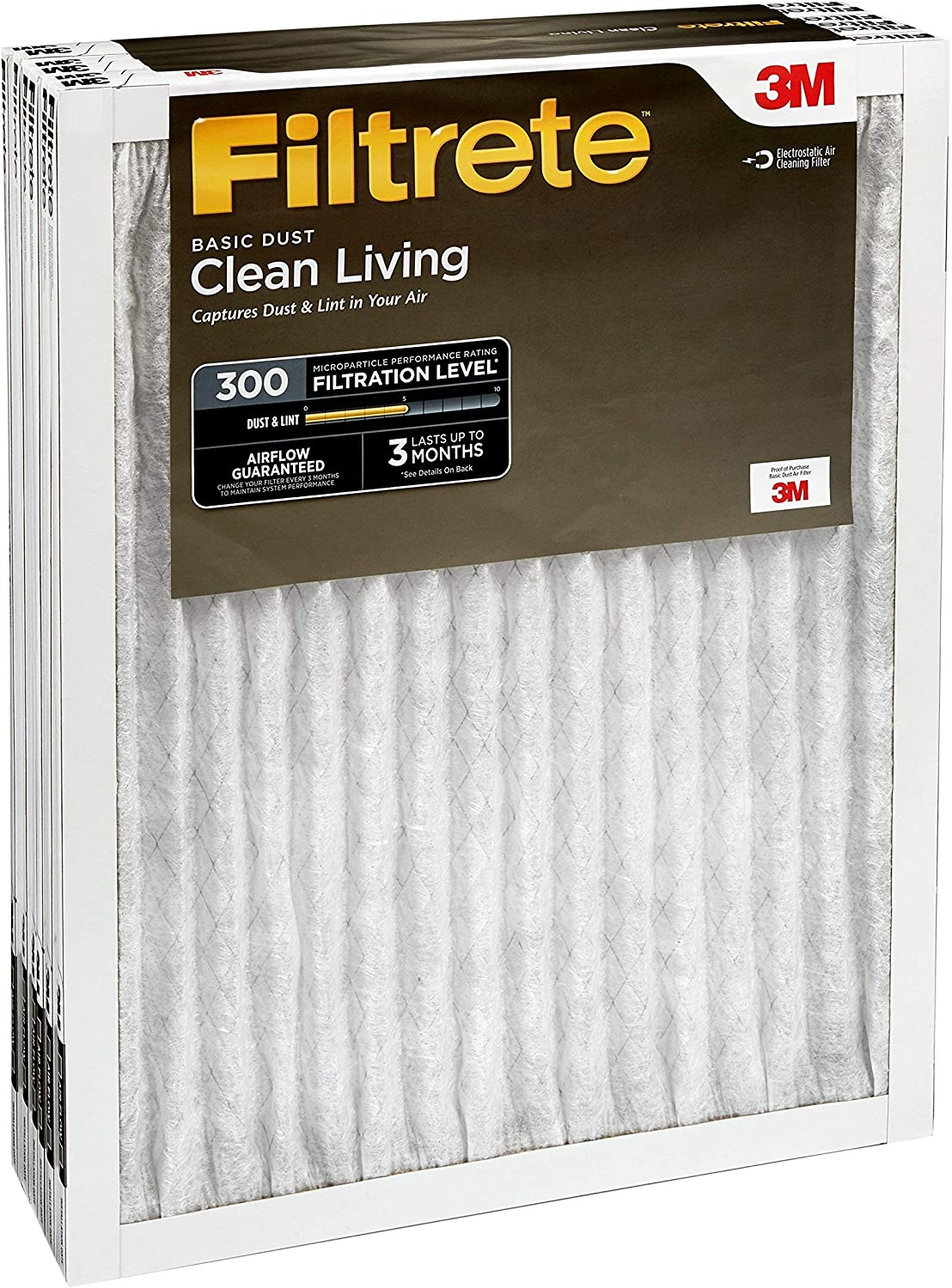 Filtrete AC Furnace Air Filter Clean Living Basic Dust 6-Pack
