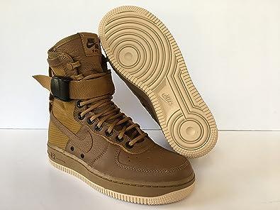 sale retailer f6af7 0c50e Amazon.com | Nike SF AF1 WMNS Air Force Golden Beige Brown ...