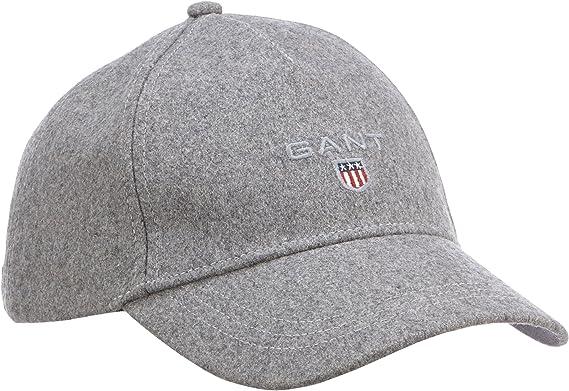 Gant Melton Cap, Gorra de béisbol para Hombre, Grau (Grey Melange ...