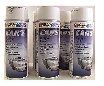 Pintura para coches de rally Dupli Color 385896 (6 latas de spray de 400 ml), color blanco mate
