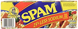 Spam 25% Less Sodium 12 oz Can, 8 Pack